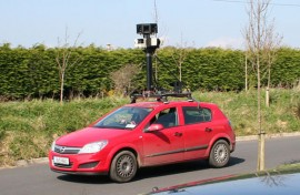 Google Street View car with Dublin registration