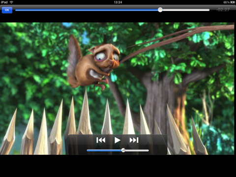 Screengrab of VLC Player on the iPad