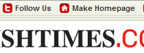 Irish Times Redesign Showing Twitter and Mobile Links