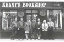 The Kenny family outside Kenny's Bookshop in the 1980's