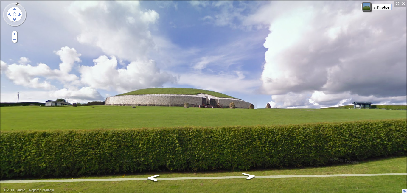 Newgrange on Google Street View