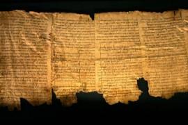 Part of the Dead Sea Scrolls