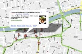 A search for Italian restaurants in Dublin