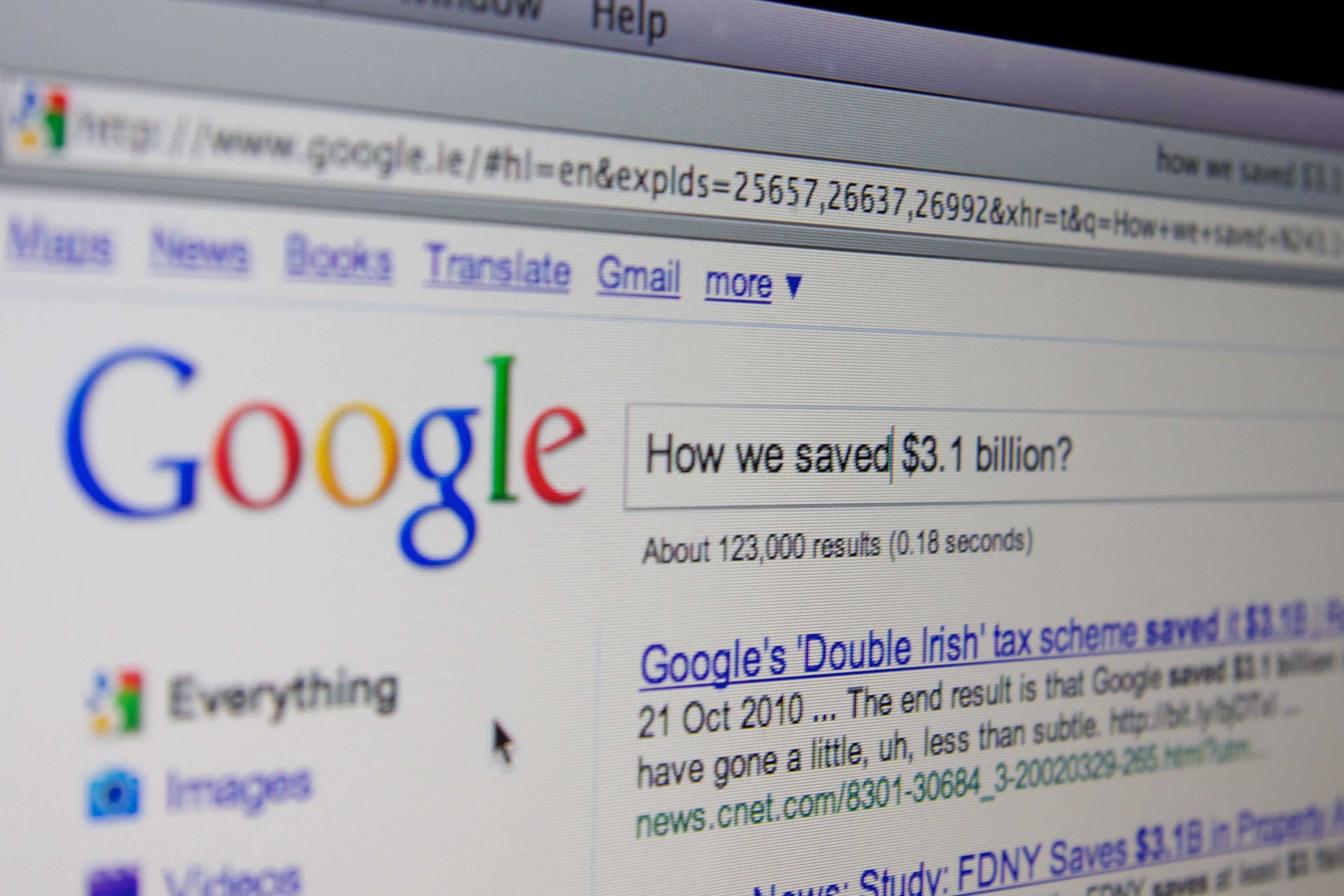 Google saving billions in US and Irish tax ©The Sociable/Darren McCarra.