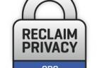 Reclaim Privacy's logo