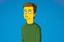 Mark Zuckerberg as a Simpsons character