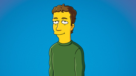 Mark Zuckerberg as a Simpsons character