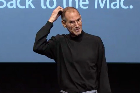 "Steve Jobs at the ""Back to the Mac"" event"