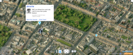 Bing Maps showing Twitter overlay