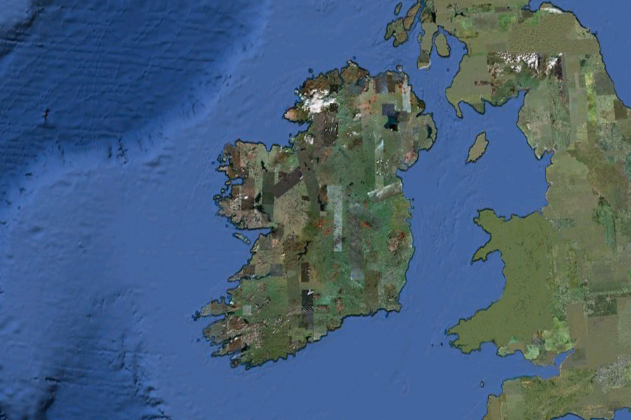 Ireland in Google Earth