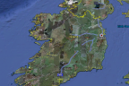 Google Earth View of Ireland