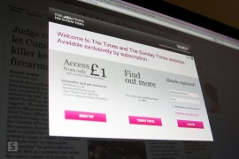 The Times firewall in action
