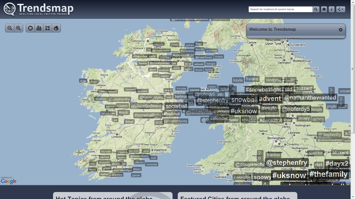 Trendsmap of Ireland