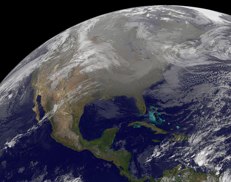NASA image of storm battered USA