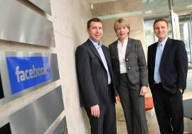 Facebook GM, Colm Long with Minister for Enterprise Trade and Employment Mary Coughlan TD