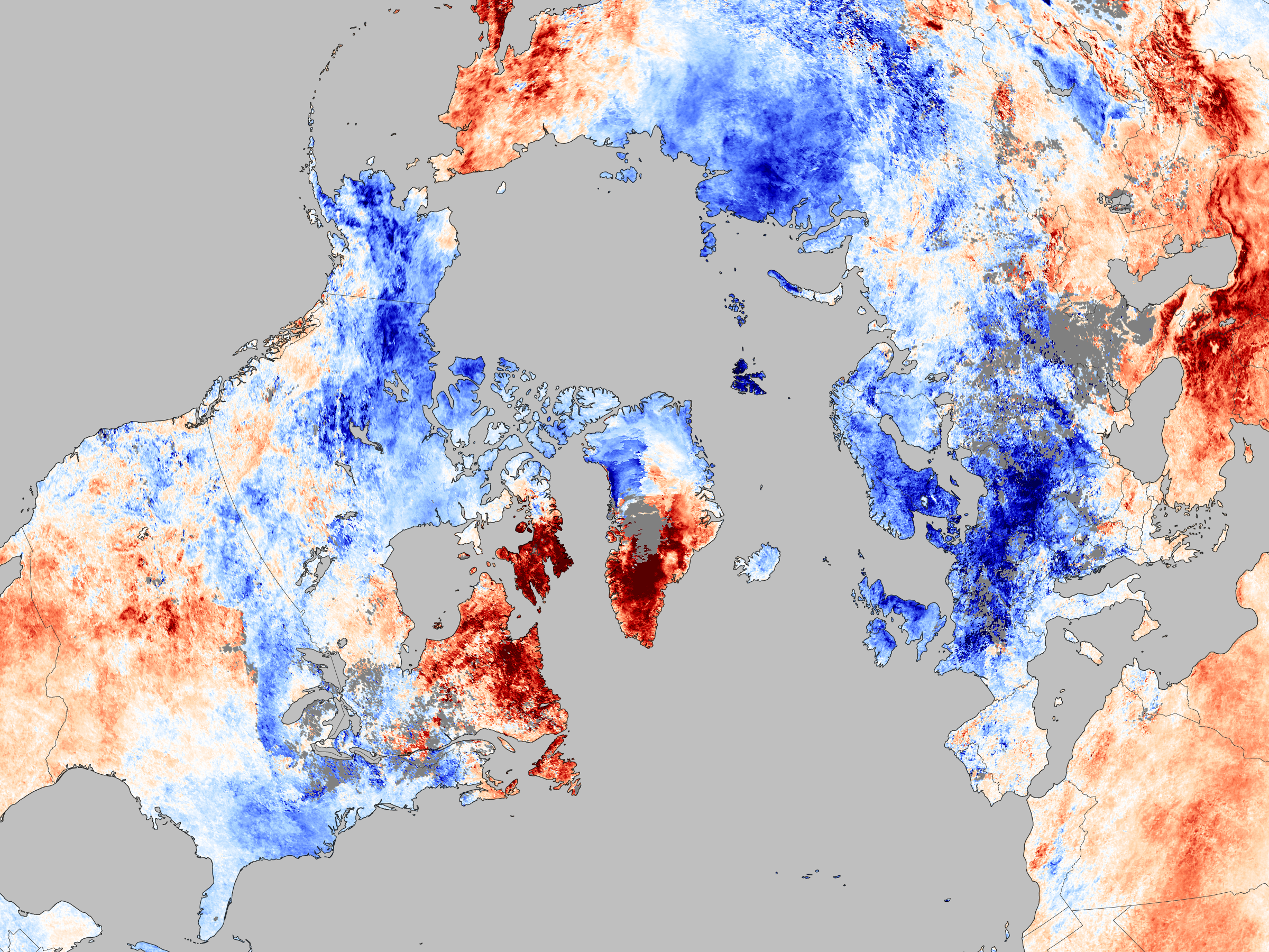 NASA image of frozen Northern Hemisphere