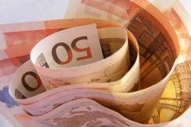 Bundle of €50 notes
