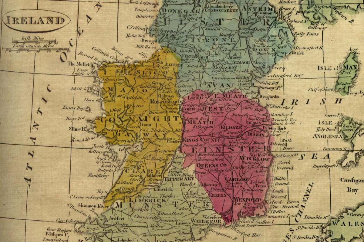 Ireland 1808 map