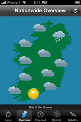Irish Weather iPhone app
