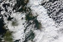 NASA image of snow covered UK in December 2010