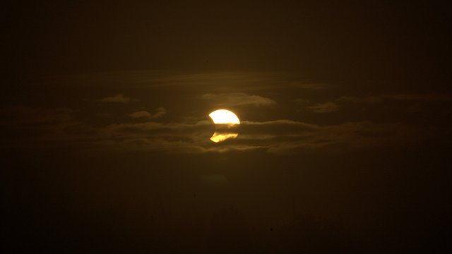 Eclipse - On the road between Rosslare and Wexford (Pic Brendan Cooney) via RTE