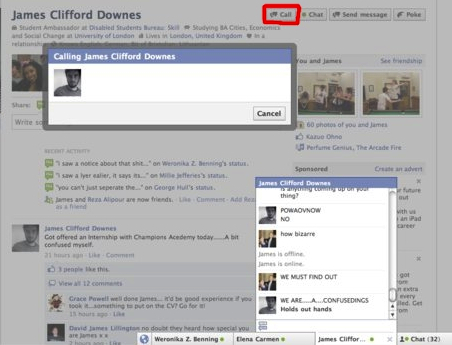 Facebook Voice Calling via Inside Facebook