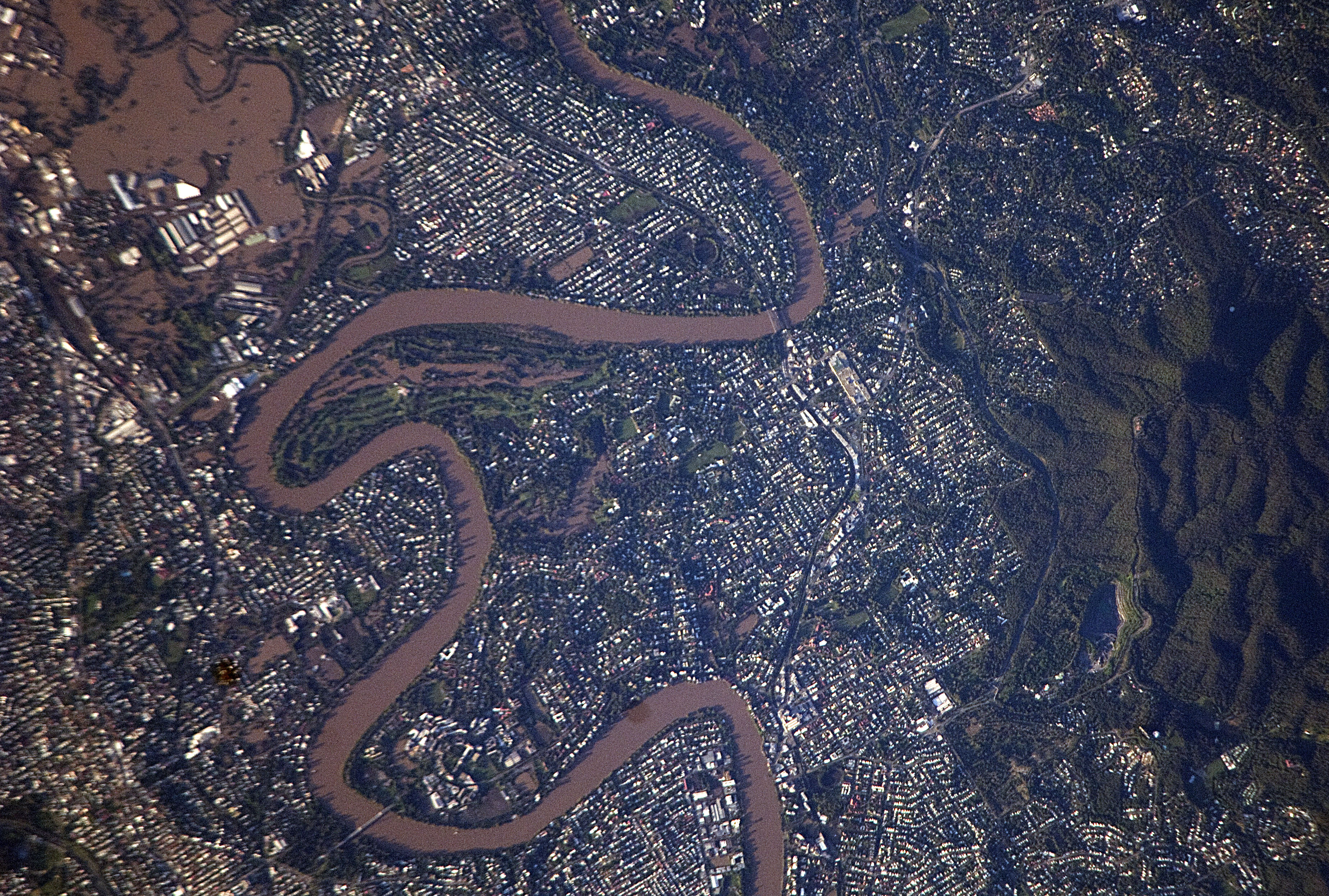 Flooding in Queensland, Australia seen by NASA from ISS