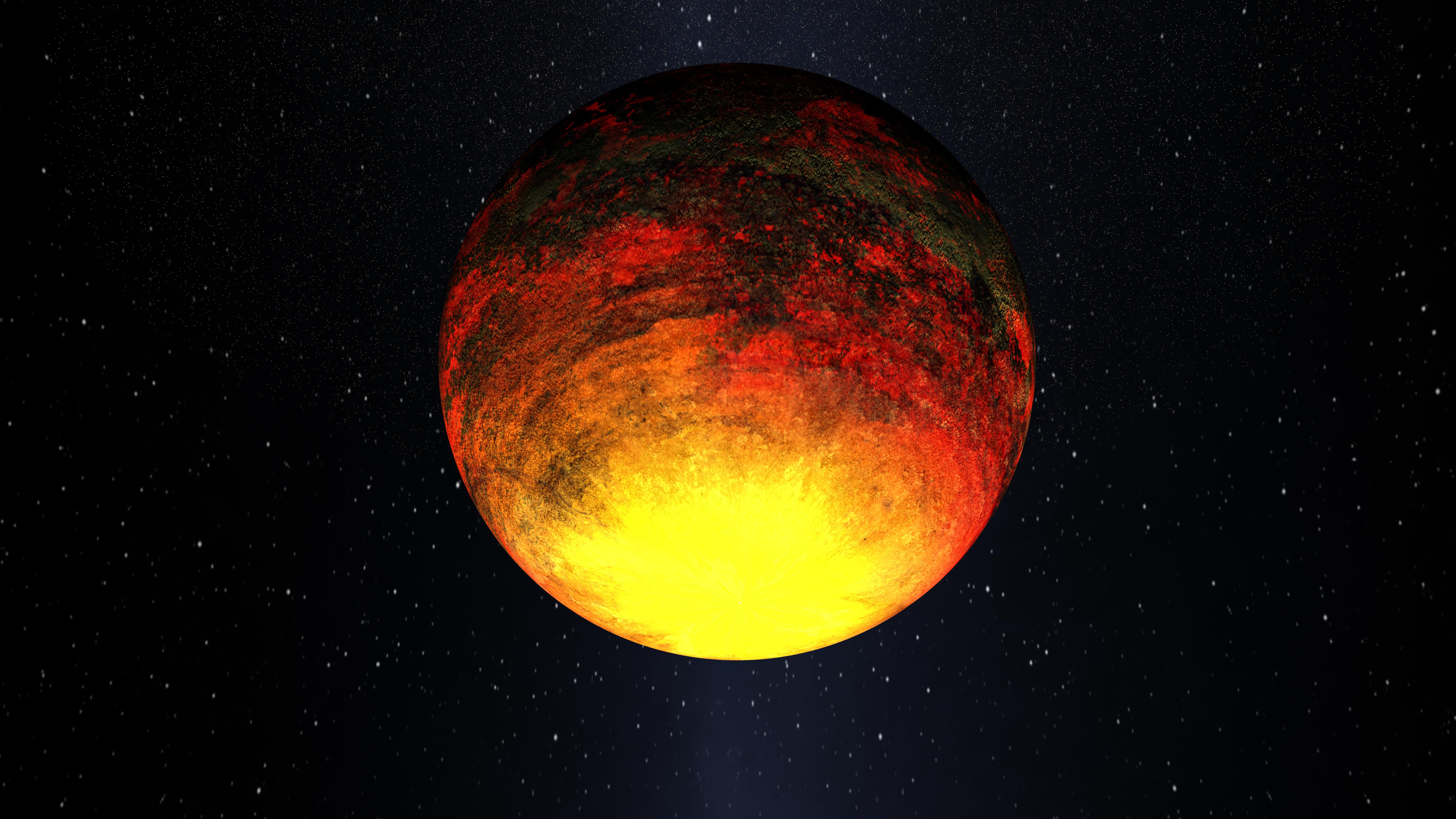 Artist's Depiction of Kepler-10b