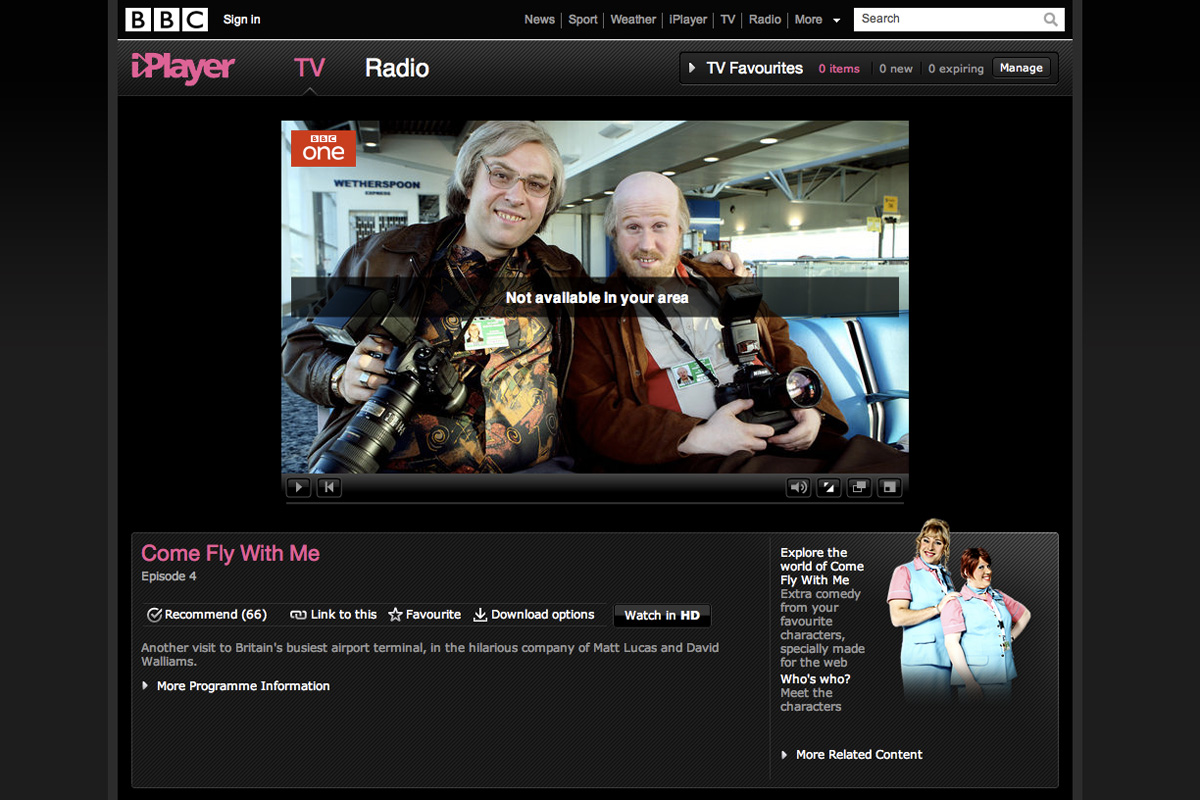 BBC iPlayer - not available in Ireland yet