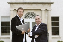 Professor Barry Smyth, co-founder of HayStaks and Leo Hamill, partner with NCB Ventures outside NovaUCD