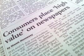 Irish newspaper clipping