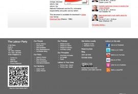 Screenshot of the QR code on Labour's website