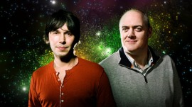 Prosessor Brian Cox and Dara O'Briain who will host Stargazing LIVE