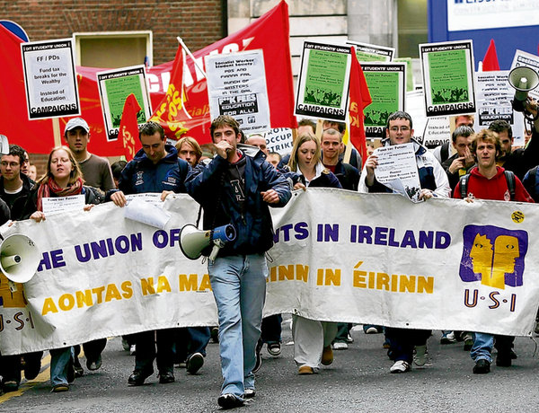 USI organised protest in Dublin last November