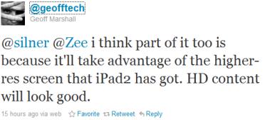 Image of tweet by @geofftech via ZNet