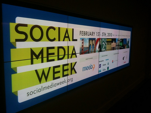 Social Media Week, via stevegarfield on Flickr