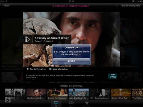 BBC iPlayer iPad app not available outside the UK