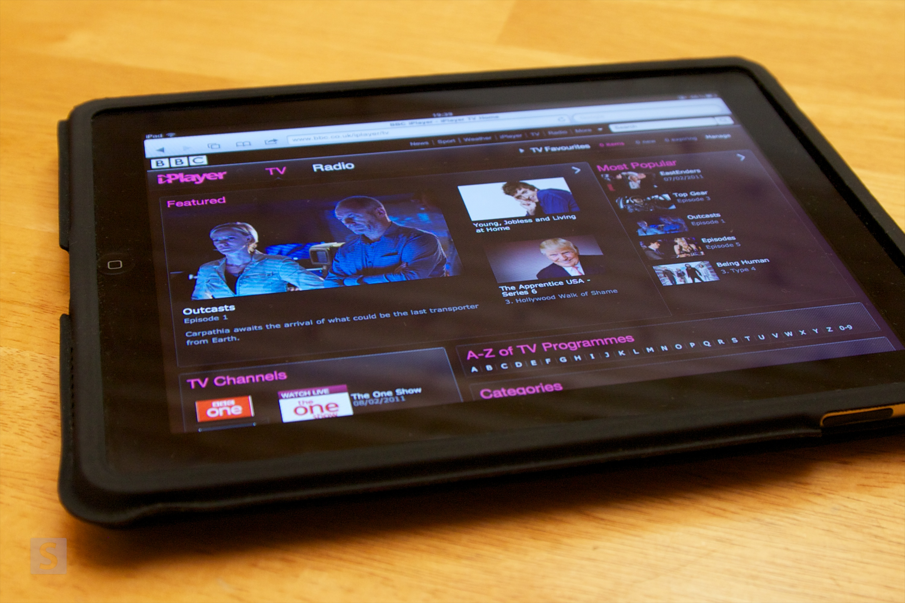 BBC iPlayer on the iPad