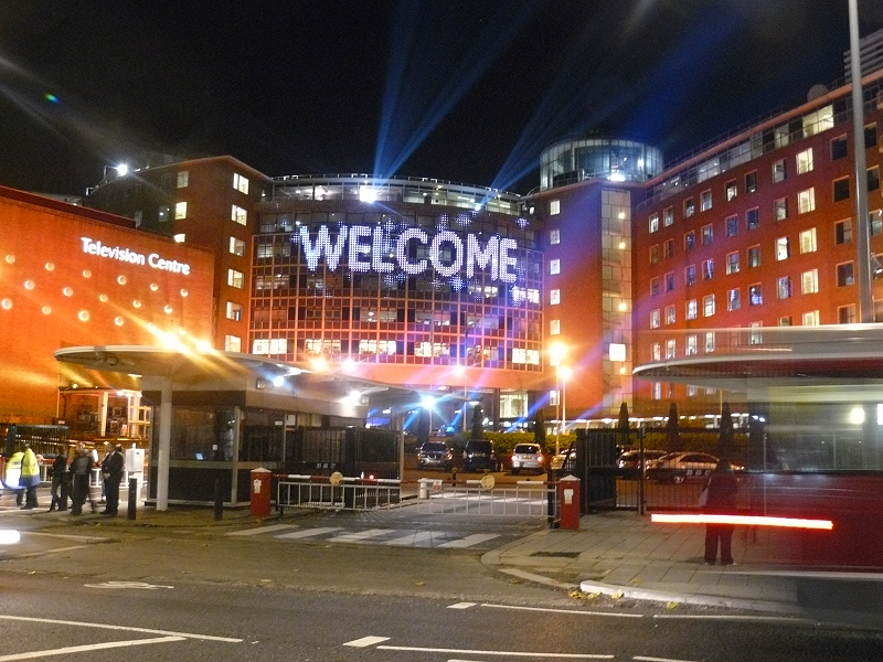 The iconic BBC Television Centre in London