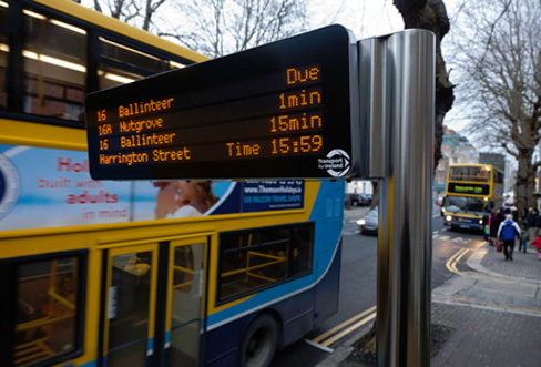 dublin bus begins roll out of real time passenger information Information Dublin 488x331
