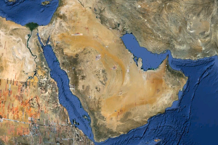 Saudi Arabia from Google Earth
