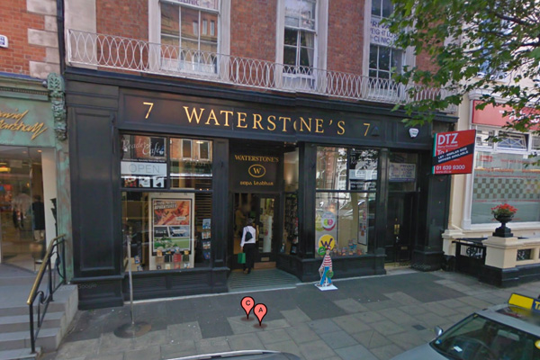 Waterstone's bookstore on Dublin's Dawson Street