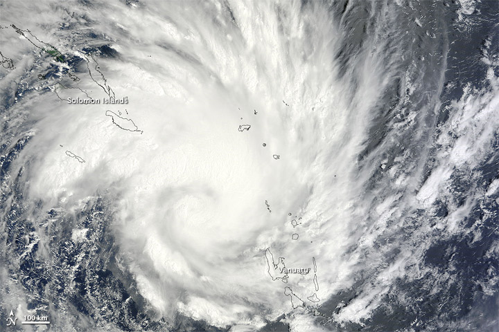 NASA image of Tropical Cyclone Yasi