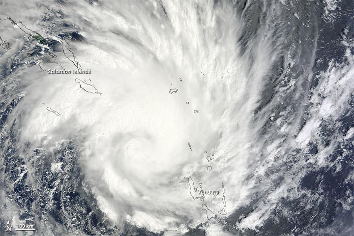 NASA image of Tropical Cyclone Yasi