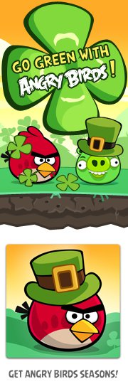 Angry Birds St Patrick's Day game