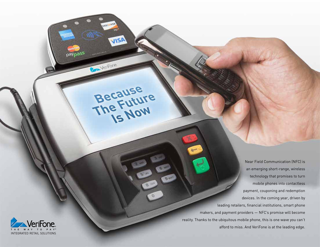 VeriFone Near Field Communication point-of-sale