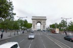 The Arc de Triomphe, Paris, as seen in Google Street View