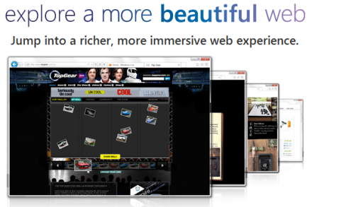 ie9 explore a more beautiful web