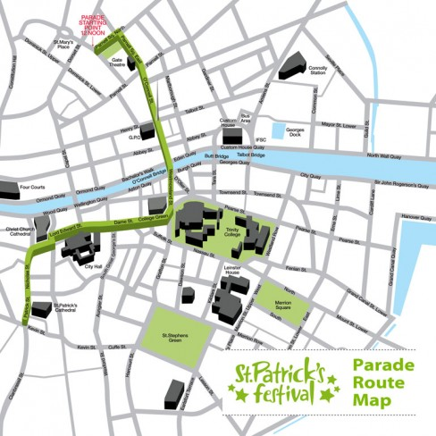 St Patrick's Day Parade Map 2011