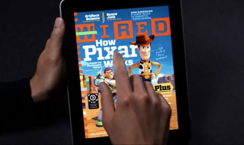 Wired Magazine for the iPad illustrates an attempt to converge print with digital media